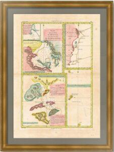 Авачинская бухта Камчатки. 1788г. Старинная карта