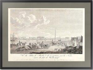 Вид на Мраморный дворец в Петербурге. 1799г. (50x77!) Гравюра. Музейный экземпляр