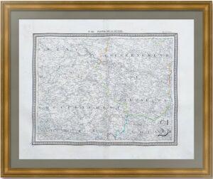 Новгородская, Ярославская и Тверская губернии. 1833г. Вандермален. Старинная карта. (62x91)