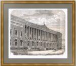 Императорская Публичная библиотека в Петербурге. 1857г. Старинная гравюра