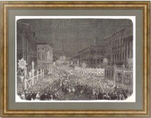 Иллюминация в Петербурге к совершеннолетию Цесаревича Николая Александровича. 1859г.