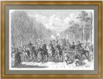 Гулянье 1 мая в Екатерингофе. 1871г. Старинная гравюра