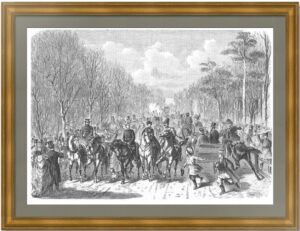 Санкт-Петербург. Гулянье 1 мая в Екатерингофе. 1871г. Старинная гравюра