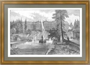 Петергоф. 1888г. Старинная гравюра