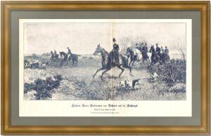 Мария Федоровна на охоте с гончими. 1890г. Хельминский.