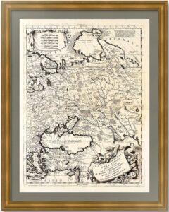 Россия в Восточной Европе. 1698г. Коронелли. Старинная карта. Редкость музейного уровня