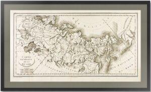 Российская империя в Европе, Азии и Америке. 1797г. Редкая старинная карта