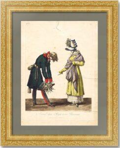 Русские войска в Париже в 1814 г. Русский офицер прощается с парижанкой. Верне/Дебюкур