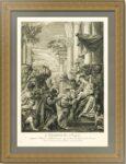 Эрмитажная коллекция. Поклонение волхвов. 1729г. Старинная гравюра. Музейный экземпляр