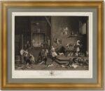 Эрмитажная коллекция. Кухня. 1777г. Тенирс. Музейный экземпляр. Старинная гравюра