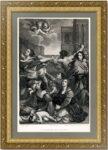 Избиение младенцев. Гвидо Рени / Бартолоцци. 1809г. Старинная гравюра. Музейный экземпляр