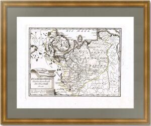 Архангельская губерния. 1789г. Старинная карта
