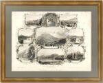 Кавказские минеральные воды. 1860г. Старинная гравюра - антикварный подарок