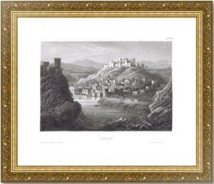 Тифлис (Тбилиси). 1856г. Старинная оригинальная гравюра