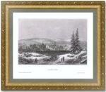 Иркутск. 1859г. Старинная оригинальная гравюра.