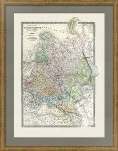 Россия в Европе с Польшей. 1876г. (62x48). Атрибуция не завершена