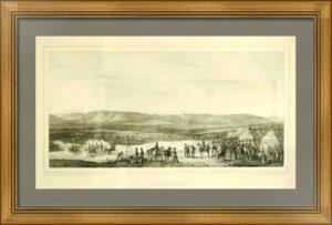 Николай I при Шумле на биваках 1828 года. Война с Турцией. Старинная литография.