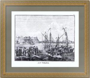 Тобольск. 1833г. Старинная литография. Редкость