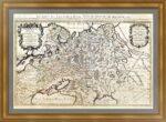 Белая Россия или Московия(2). 1692г. (62×96!). Старинная карта. Музейный экземпляр