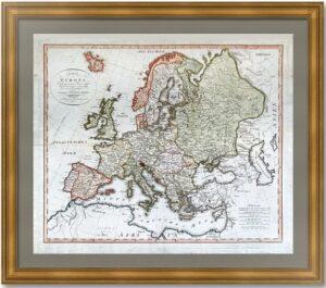 Европа. Политическая карта. 1800г.