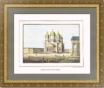 Петербург. Исаакиевский собор. 1835г. Старинная оригинальная литография