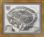 Москва с высоты птичьего полета. Мериан. 1638г. Старинный гравированный план города