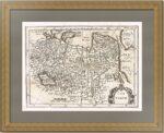 Тартария. 1700г. Старинная карта. Джон Спид / Мартино Дю Плесси.  Редкость музейного уровня