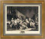 Плоды хорошего воспитания. 1767г. Грёз/Флипар. Эрмитажная коллекция.  Старинная гравюра