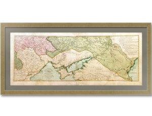 История Русско-турецкой войны 1735-1739г.г. Старинная карта 1769г.