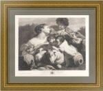 Пастух и пастушка (Нимфа и пастух). 1775г. Чиньяни/Мишель. Музейный экземпляр. Гравюра