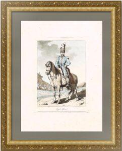 Казачий офицер. Аткинсон. 1804г. Старинная литография