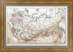 Российская империя в европе и азии. 1896г. Ильин. Антикварная карта. Музейный экземпляр