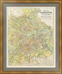 Санкт-Петербург. План города. 1906г. Йодко. Старинная карта - антикварный подарок